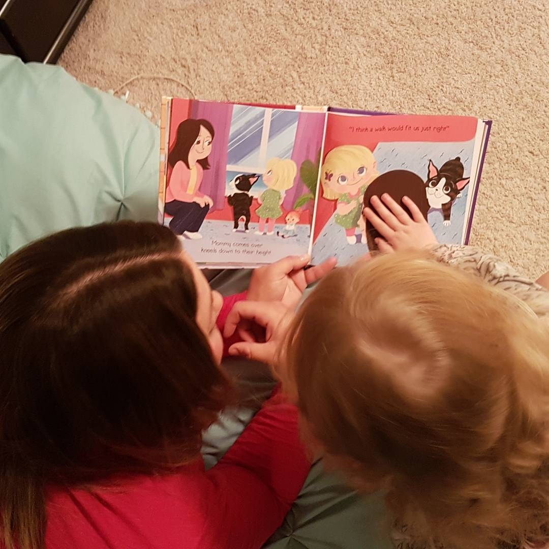 Reading with mommy