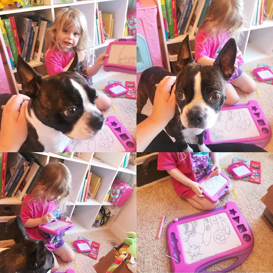 My Boston and Me - Anya & Jemma Drawing Together